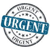 Urgent blue grunge round stamp on white background — Stock Photo