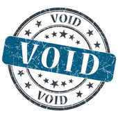 Void blue grunge round stamp on white background — Stock Photo