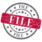 File red grunge round stamp on white background — Stock Photo