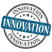 Innovation blue grunge round stamp on white background — Stock Photo