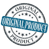 Original Product blue grunge round stamp on white background — Photo