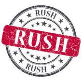 拉什红色摇滚圆邮票贴在白色背景上 — 图库照片