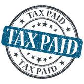 Tax Paid blue grunge round stamp on white background — Stock Photo