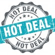 Hot deal blue grunge retro style isolated seal — Stock Photo #43657611