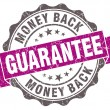 Money back guarantee violet grunge retro style isolated seal — Stock Photo #43657817
