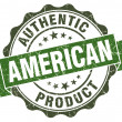 American product green grunge retro style isolated seal — Stock Photo #43658151