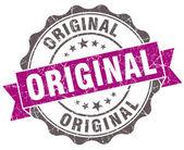 Original violet grunge retro style isolated seal — Stok fotoğraf