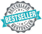 Sello azul bestseller grunge retro estilo aislado — Foto de Stock