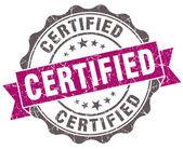 Certificato sigillo di stile retrò isolato grunge viola — Foto Stock