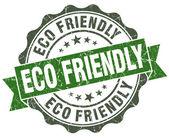 Eco freundliche grunge grün retro-stil isoliert siegel — Stockfoto