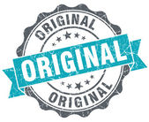 Original blue grunge retro style isolated seal — Stok fotoğraf