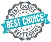 Best choice blue grunge retro style isolated seal — Stock Photo