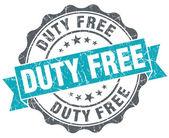 Duty free blue grunge retro style isolated seal — Stock Photo