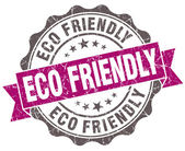 Eco friendly violet grunge retro style isolated seal — Stock Photo