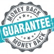 Money back guarantee blue grunge retro style isolated seal — Stock Photo #43740037
