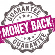 Money back violet grunge retro style isolated seal — Stock Photo #43745071