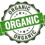 Organic green grunge retro style isolated seal — Stock Photo #43929063