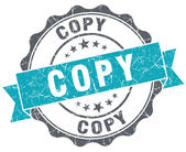 Copy blue grunge retro style isolated seal — Stock Photo