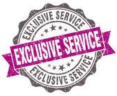 Exclusivo violeta grunge serviço em estilo retro isolado selo — Foto Stock