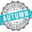 Autumn collection blue grunge retro style isolated seal — Stock Photo