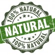 Natural green grunge retro style isolated seal — Stock Photo