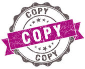 Copy violet grunge retro style isolated seal — Stock Photo