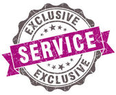 Exclusive service violet grunge retro style isolated seal — Stock Photo