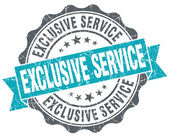 Exclusive service blue grunge retro style isolated seal — Stock Photo