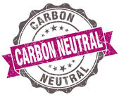 Carbon neutral violet grunge retro vintage isolated seal — Stock Photo