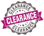 Clearance violet grunge retro vintage isolated seal — Foto de Stock