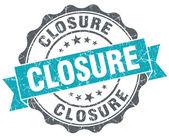 Closure turquoise grunge retro vintage isolated seal — Stock Photo