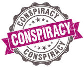 Conspiracy violet grunge retro vintage isolated seal — Stock Photo