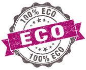 Eco fiołek ilustracja retro vintage pieczęć na białym tle — Zdjęcie stockowe