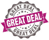 Great deal violet grunge retro style isolated seal — 图库照片
