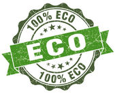 Eco green grunge retro vintage isolated seal — Foto Stock