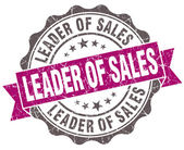 Leader of sales violet grunge retro vintage isolated seal — Stockfoto