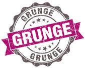 Grunge violet grunge retro vintage isolated seal — Stock Photo