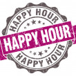 Happy hour violet grunge retro vintage isolated seal — Foto Stock #44440859