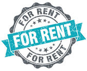 For rent turquoise grunge retro vintage isolated seal — Stock Photo