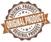 Originele product bruin grunge retro vintage geïsoleerde zegel — Stockfoto