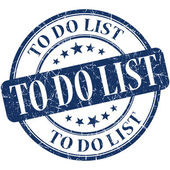 To do list blue round grungy vintage rubber stamp — Photo