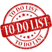To do list red round grungy vintage rubber stamp — Stock Photo