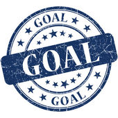 Goal blue round grungy vintage rubber stamp — Stockfoto