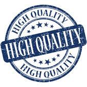 Alta calidad azul redondo grungy sello vintage — Foto de Stock