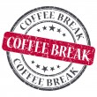 Coffee break red round grungy stamp isolated on white background — Stock Photo #47061589