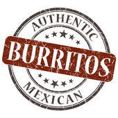 Burritos brown round grungy stamp isolated on white background — Stock Photo