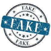 Fake blue round grungy stamp isolated on white background — Stock Photo