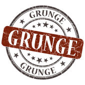 Grunge brown round grungy stamp isolated on white background — Foto Stock
