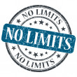 No limits blue round grungy stamp isolated on white background — Stock Photo #47205995
