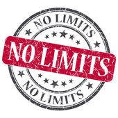 No limits red round grungy stamp isolated on white background — Stock Photo
